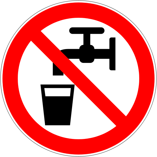 Do not drink budgetwater